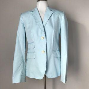J. Crew Size 4 Blazer Blue Cotton Lined Jacket